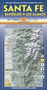 Santa Fe Bandelier Los Alamos Trail Map 2nd Edition Sky