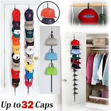 details about cap rack closet hanger system storage 32 caps organizer door baseball hat holder