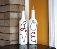 homemade wine bottle crafts diy craft wine bottle