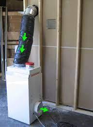 through the wall dehumidifier ducting