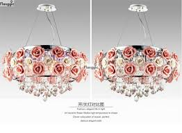 modern flower shape glass crystal chandelier restaurant light roses shaped lamp shade dia 500mm