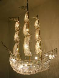crystal sailboat chandelier rock and royal artwork designers in the three masted sailing ship chandelier chandeliers
