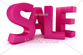 sale word word sale written by magenta letters stock image ta1226456