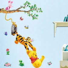 winnie the pooh wall stickers animal erfly tree for baby nursery room decor 1 of 4free