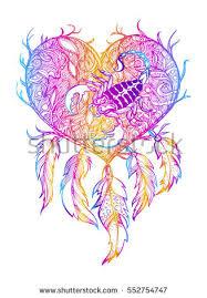 Zodiac Dream Catcher Enchanting Handmade Talisman Dreamcatcher With Feathers Vector Illustration