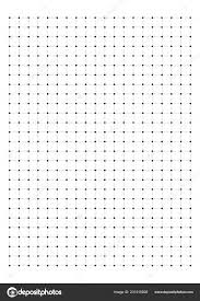 Dot Grid Paper Graph Paper White Background Vector