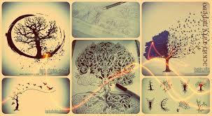 эскизы тату дерево интересные рисунки для переноса на тело и