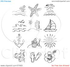 Small Picture Coloring Pages Of Beach Items Coloring Coloring Pages