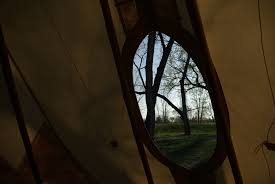looking out door. Looking Out The Tipi Door