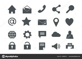 Web Office Icons Solid Colour Weeb Icons Vector Art Adobe Stock