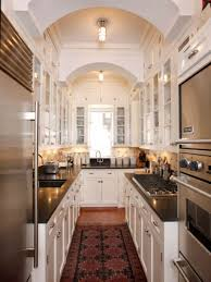Small Picture Kitchen Interesting White Galley Kitchen Design Featuring
