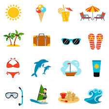 Summer Icons Summer Icons Set Vector Free Download