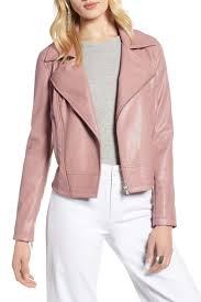 halogenquilted faux leather moto jacket