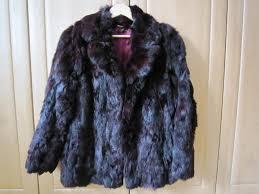 las real coney fur jacket size 12 excellent condition