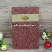 Simple Beautiful Gold Foil Indian Hindu Wedding Invitation Cards