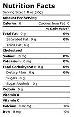 bottled water if it has a nutrition label it has undergone processing additives or worse nting the purity and quality of your drinking water
