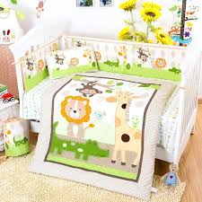 forest animals crib bedding cotton baby bedding set giraffe monkey forest animals pattern crib bedding set detachable quilt pillow pers sheet in bedding
