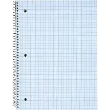 Staples Graph Ruled 4 X 4 Perforated Paper In Spiral Bound Notebook