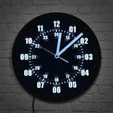 Askeri süresi 24 saat ekran Neon tabela duvar saati LED arka ışık ile  askeri dünya saat dilimi amatör Neon burcu LED duvar duvar saati|Wall  Clocks