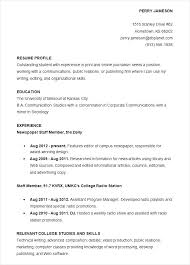 College Student Resume Examples Resume Letter Directory
