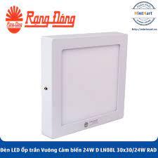 Đèn LED Ốp trần Vuông Cảm biến 24W D LN08L 30x30/24W RAD SS Rạng Đông -  Hàng Chính Hãng - mintmart.vn