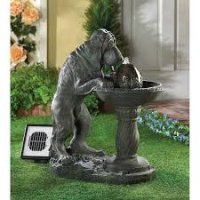thirsty dog solar fountain outdoor solar water fountains country koi fish farm canada