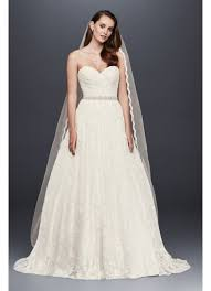 lace sweetheart wedding ball gown david s bridal