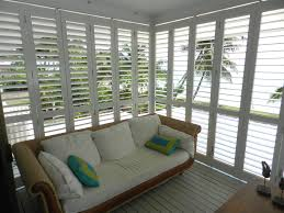 exterior shutters used indoors. louvered exterior plantation shutters for sunrooms, patios, screen porch outdoor kitchen used indoors