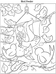 Small Picture Dover Kooky Birds Coloring Page Bird Feeder Kids ALL Ages