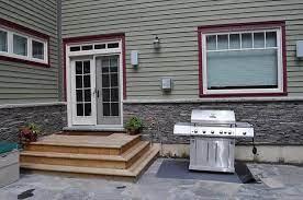 back door deck patio stairs patio