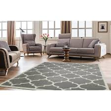 ottomanson contemporary moroccan trellis gray 5 ft x 7 ft area rug ptr1553 5x7 the home depot