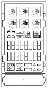ford e series e 150 e150 e 150 1998 2001 fuse box diagram ford e series e 150 fuse box power distribution box
