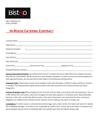 catering contract 3pdf 1png wedding catering contract sample
