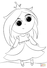 Cute Little Princess Coloring Page Free Printable Coloring Pages