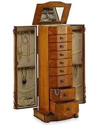 mirror armoire. large floor standing 8 drawer wooden jewelry armoire with mirror \u0026 lock | zen merchandiser l