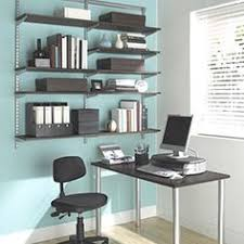 office shelving ideas. White Elfa Décor Freestanding Office | Container Store, Walls And Shelving Ideas