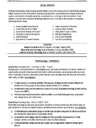 Resume Sample For Free Social Worker Resume Sample Souvenirs Enfance Xyz