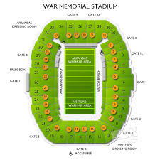Seating Chart For War Memorial Stadium In Little Rock War Memorial Stadium Tickets Related Keywords Suggestions
