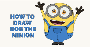 how to draw bob the minion featured image