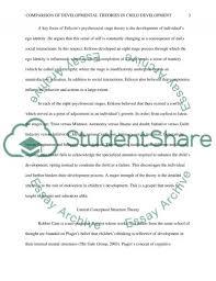 comparison of developmental theories in child development essay related essays
