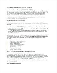 Payment Agreement Form Sample Interesting Simple Vendor Agreement Template Related Post Simple Event Vendor