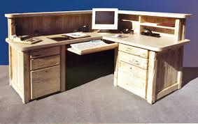 custom wood office furniture. Wonderful Custom Wood Computer Desk Reception Corner Station Office Furniture E