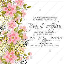Anniversary Template Spring Flower Vector Wedding Invitation Template Marriage Invitation