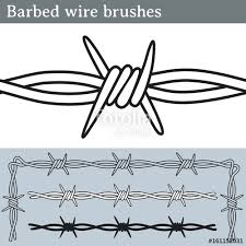 barbed wire fence drawing. Barbed Wire Brushes. Brushes For Illustrator To Draw Wire. Three Different Versions: Fence Drawing A