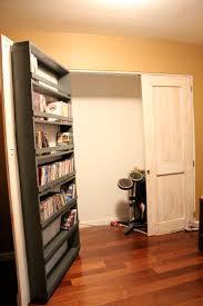 ana white closet door and dvd storage diy projects closet door and dvd storage