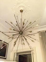 sputnik style chandelier a massive sputnik style cm diameter light society meridia sputnik style chandelier