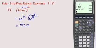 Kuta - Simplifying Rational Exponents (1 through 8) - YouTube