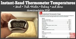 Instant Read Thermometer Temperatures The Boat Galley
