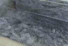 amazing gray faux fur rug or grey faux fur blanket lovely grey faux sheepskin rug gray
