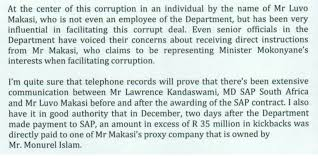sap south africa s managing director implicated in alleged  sap south africa s managing director implicated in alleged 38 million sap licenses purchasing and kickback scandal